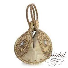 Golden Embroidered Fortune Cookie Handbag