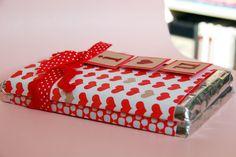 Valentine candy bar wrapper