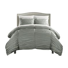 The Aurora Bed in a Bag Comforter Set by Chic Home will instantly elevate your bedroom decor. This comforter set comes in your choice of available. Bedding Sets Online, Bed In A Bag, King Comforter Sets, Grey And Beige, City Living, Flat Sheets, Bed Spreads, Luxury Bedding, Pillow Cases
