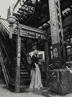 Model Alyona Subbotina goes to Williamsburg, styled by Pablo Patane in 'Brooklyn Calling'. Photographer Francesco Vincenti captures the dramatic black and white for Harper's Bazaar Thailand September Hair by Matt Fugate; Coaster Art, Portrait Photography, Fashion Photography, Art Necklaces, Tile Art, Harpers Bazaar, Yorkie, Editorial Fashion, Brooklyn