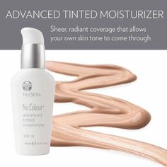 Nu Colour Advanced Tinted Moisturizer SPF 15 - Medium - The Beauty Guide Moisturizer For Oily Skin, Tinted Moisturizer, Moisturiser, Nu Skin, Beauty Balm, Cc Cream, Anti Aging Skin Care, Serum, Concealer