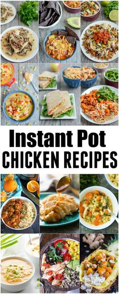 These Instant Pot Chicken Recipes are perfect for easy, healthy dinners. Plus you can pack the leftovers for lunch! Many of the recipes could also be made in the slow cooker if you dont have a pressure cooker. via The Lean Green Bean Healthy Crockpot Recipes, Easy Healthy Dinners, Lunch Recipes, Easy Dinners, Free Recipes, Instant Pot Pressure Cooker, Pressure Cooker Recipes, Pressure Cooking, Leftover Chicken Recipes