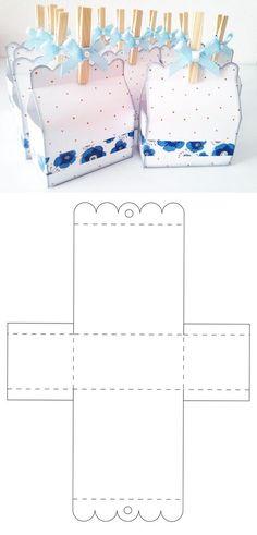 Diy Geschenk Basteln - Caja para dulces y candybar Diy Gift Box, Diy Box, Diy Gifts, Gift Boxes, Paper Gifts, Diy Paper, Paper Art, Paper Box Template, Box Templates