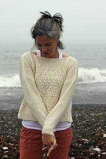 Thea Colman's Fog Cutter - plus size sweater knitting patterns