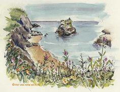 Tips, Pen, Ink, and Watercolor Wash Sketches, 3-08 - PenInkWatercolorSketching.com