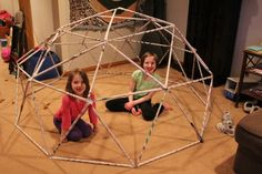 Recycling Projects for Kids Stem Projects, Projects For Kids, Recycling Projects, Class Projects, Easy Crafts For Kids, Diy For Kids, Kid Crafts, Geodesic Dome, Upcycled Crafts