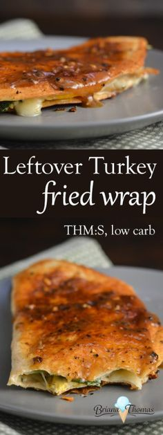 Leftover Turkey Fried Wrap - THM:S, low carb - this is a great way to use up Thanksgiving leftovers! Fried in coconut oil and covered in gravy (Low Carb Mexican Chicken) Ketogenic Recipes, Fall Recipes, Low Carb Recipes, Healthy Recipes, Banting Recipes, Leftover Turkey Recipes, Leftovers Recipes, Dinner Recipes, Omelette