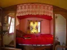 Interior of a Gypsy caravan