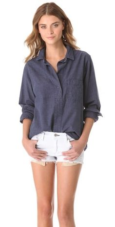 Rag & Bone/JEAN  Leeds Oversized Shirt  - like the shirt for work with a skirt