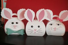 Super cute Easter Bunnies made by one of my team using the Curvy Keepsake thinlits dies! Want to order these thinlits? Go here: http://www.nutzaboutstamping.com
