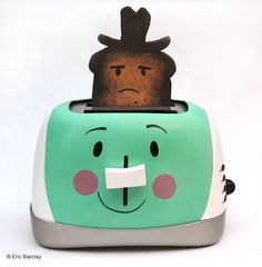 Burnt Texas Toast sculpture. My toaster quit working. Inspired by Milton the Toaster (Pop Tarts)