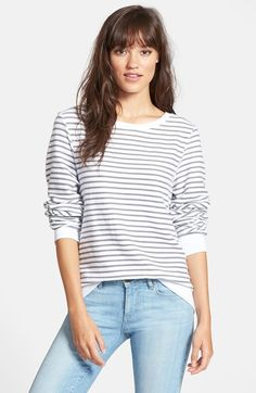 Wildfox 'Baggy Beach Jumper' Stripe Pullover available at #Nordstrom