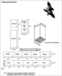 images about Bat houses on Pinterest   Bats  Bat house plans    BAT HOUSE PLAN    NPWRC    Nest Structures  Feeders and Blinds