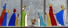 Bildresultat för my father made this nativity set in tiffany stained glass