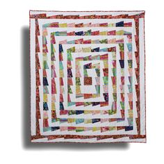 Red Center quilt by Kathy Doughty | Material Obsession.  Kaffe Fassett fabrics.
