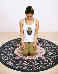 Lotus Round Yoga Mat Bikram Yoga, Gym Wear, Yoga Inspiration, Lotus, Beach Mat, Yoga Mats, Pink, Style, Swag