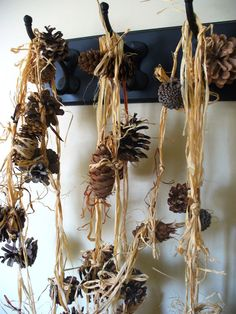 Rustic Wedding Garland Pinecone Forest Decor Eco by kzannoart, $34.00