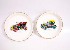 Vintage Antique Car Coasters Wood & Sons by LeVintageGalleria