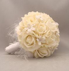 Silk Flower Bridal Bouquet Stephanotis Real by SongsFromTheGarden, $135.00