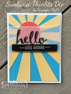 A Sunburst Card To Celebrate Sale-A-Bration and The New Occasions Catalog! | Stampin' 365