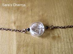 Kupferarmband Pusteblume in Glaslinse von Sara´s Charms auf DaWanda.com