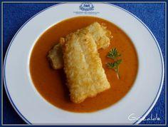 """Bacalao con salsa de """"sopa ajo"""""""