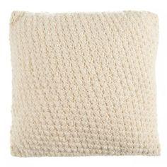 Beekman 1802 Sangerfield Crochet Square Throw Pillow in Natural - BedBathandBeyond.com