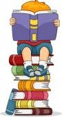 Illustration Of Kids Reading Different Books Stock Photo, Picture And Royalty Free Image. Image 10347005.
