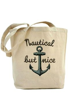 Nautical But Nice Anchor Tote Bag ♡