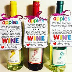 These labels are perfect for teacher appreciation, summer, or end of the school year. Just print them and personalize! There are labels included for both May and June and for classrooms with one teacher or more than one teacher. School Gifts, Student Gifts, Staff Gifts, School Items, School Fun, Presents For Teachers, Gifts For Daycare Teachers, Teacher Treats, Party