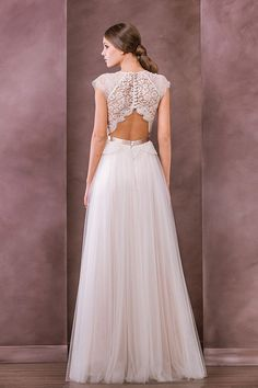Antonia - Divine Atelier 2015 - Mixture of lace and silk and fine layers - see more at onefabday.com