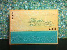 Card with a beachy feel. CTMH, Footloose Paper.