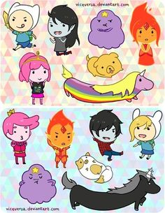 Chibi Adventure Time characters