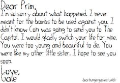 *Spoiler Alert* Gale Hawthorne to Primrose Everdeen - I truly believe that it was never Gale's intention to kill Prim.