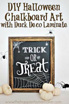 Halloween DIY Chalkboard Art