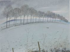 Nicholas Hely Hutchinson | (15) The Avenue in the Snow - Moor Crichel