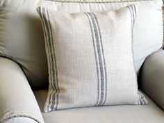 French Laundry  BLACK Stripes 20x20 pillow With INSERT by yiayias, $60.00