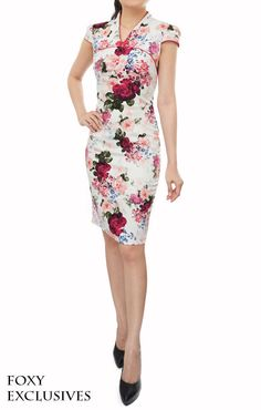 Foxy Fame - Aria Cheongsam in Red, S$ 32.00