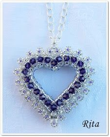 Rita gyöngyei: Passione / 2. Seed Bead Jewelry, Beaded Jewelry, Beaded Necklaces, Seed Beads, Engagement Ring Sizes, Embroidery Jewelry, Beaded Ornaments, Beading Projects, Heart Patterns