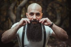 for men who love long bearded men Bald With Beard, Bald Men, Big Beard, Hairy Men, Grey Beards, Long Beards, Long Beard Styles, Hair And Beard Styles, Beard Images