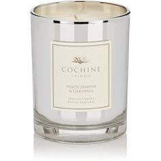 Cochine White Jasmine & Gardenia Candle (£53) ❤ liked on Polyvore featuring home, home decor, candles & candleholders, fragrance candles, peony scented candle, peony candle, recycled bottles and jasmine candle