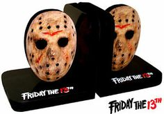 """Jason Voorhees """"Friday The 13th"""" CUSTOM Bookends - LOOK!!!"""