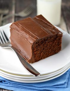 The ever so popular Coca-Cola cake is a rich chocolate cake with a tender texture. The frosting is amazing!