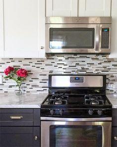 Owner Building a Home: The Momplex | Mosaic Glass Tile Backsplash