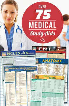 Looking for reference materials for nursing, EMT, anatomy, NCLEX, or anything medical related? We have you covered—over 75 titles to chose from for anyone in the healthcare field.  #QuickStudy