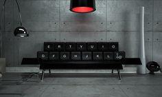 Kitschy QWERTY Keyboard Sofa
