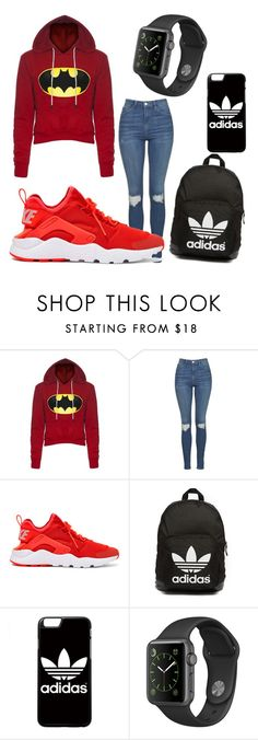 """Untitled #154"" by carolinelostinneverland on Polyvore featuring Topshop, NIKE, adidas Originals and adidas"