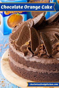 Chocolate Orange Cake – The ultimate cake for Chocolate Orange lovers. An easy to bake chocolate orange sponge filled with chocolate orange buttercream and topped with slices of Terry's Chocolate Orange. Terrys Chocolate Orange Cake, Terry's Chocolate Orange, Chocolate House, Chocolate Sponge Cake, Chocolate Heaven, Amazing Chocolate Cake Recipe, Chocolate Recipes, Nutella Recipes, Baking Recipes