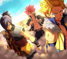 Natsu- Fire Dragon Slayer Sting-Light God Slayer Rouge-Shadow God Slayer Fairy…