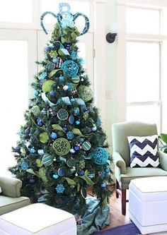 turquoise christmas tree decorating ideas | Christmas Tree Decoration: New and cute ideas! | Interior Design Ideas